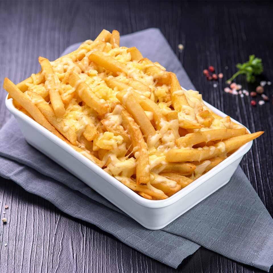 Batata frita com queijo